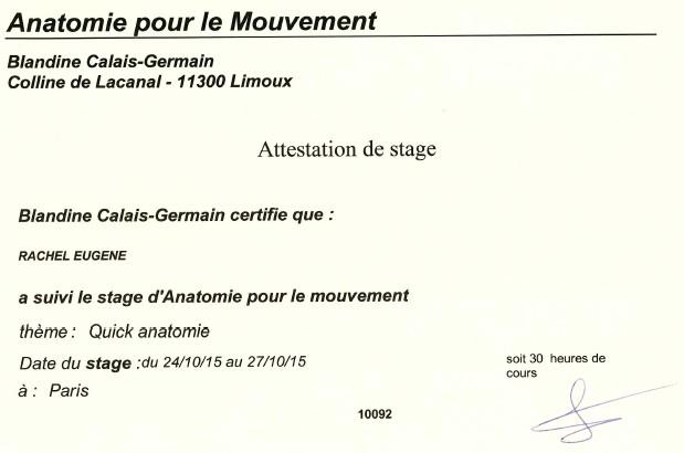 attestation ANATOMIE POUR LE MOUVEMENT 271015