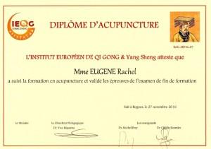 diplome IEQG acupuncture rachel